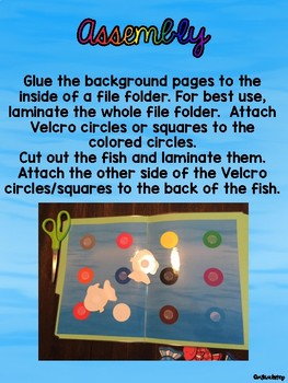 Rainbow Fish File Folder Color Match