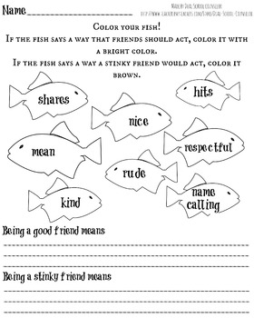 rainbow fish writing activity second grade