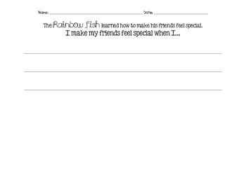 Rainbow Fish Friendship Writing Activity