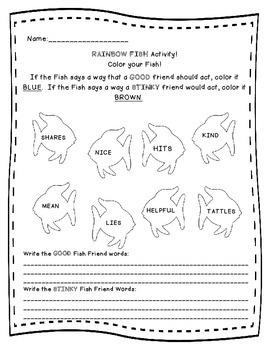 Rainbow Fish: Good Friend Bad Friend Traits