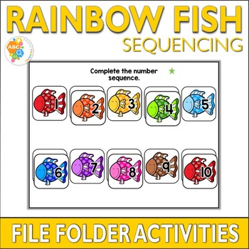 Rainbow Fish Sequencing File Folder Activities