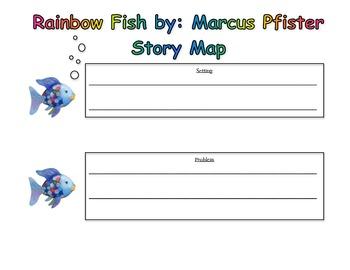 Rainbow Fish Story Map by Katie Doherty | Teachers Pay Teachers