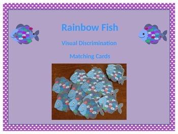 Rainbow Fish Visual Discrimination Matching Cards