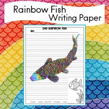 Rainbow Fish writing paper