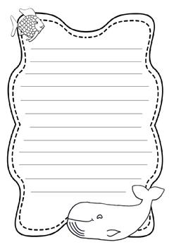 Rainbow fish writing template by ellie dawson teachers pay teachers rainbow fish writing template maxwellsz