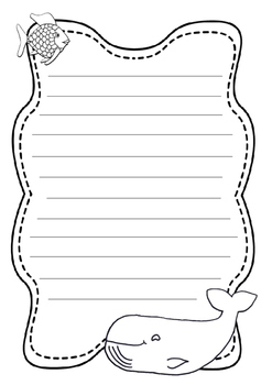 Rainbow Fish writing template