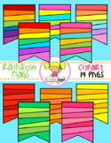 Rainbow Flags Clipart