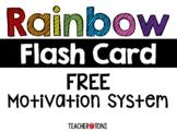 Rainbow Flash Card Motivation System: EDITABLE & FREE