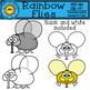 Rainbow Flies Clip Art