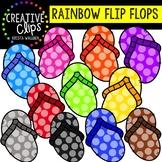 Rainbow Flip Flops: Summer Clipart {Creative Clips Clipart}