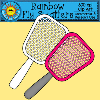 Rainbow Fly Swatter Clip Art