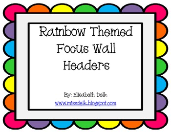 Rainbow Focus Wall Headers