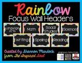 EDITABLE Rainbow Focus Wall Headers