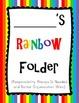 Rainbow Folder Covers