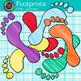 Rainbow Footprint Clip Art | Feet Graphics for Classroom Decor and Task Cards