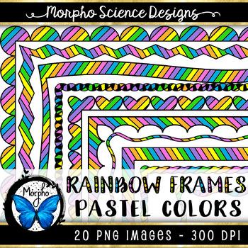 Rainbow Frames {Pastels} - 20 PACK!