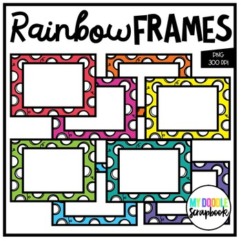 Rainbow Frames FREEBIE (Clip Art for Personal & Commercial Use)