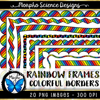 Rainbow Frames {PRIMARY COLORS} - 20 PACK