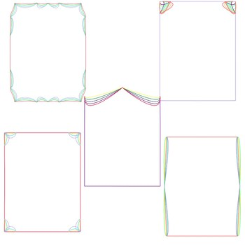 Rainbow Frames, Page Borders, and Digital Paper