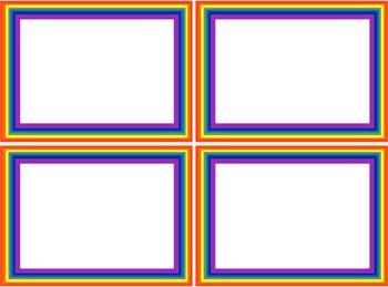 Rainbow Frames Templates