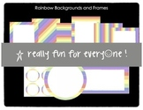 Rainbow Frames and Backgrounds