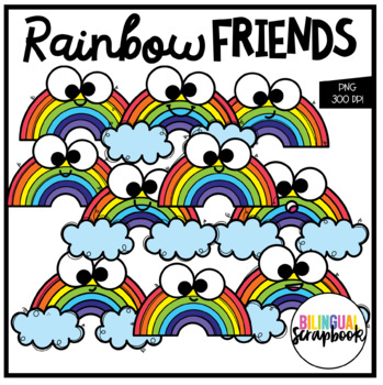 Rainbow Friends (Clip Art for Personal & Commercial Use)