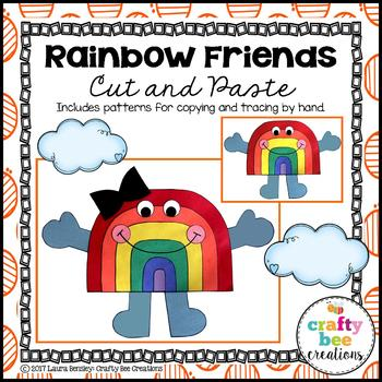 Rainbow Friends Cut and Paste
