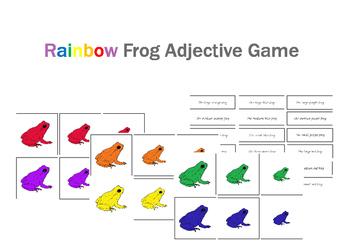 Rainbow Frog Adjective Game