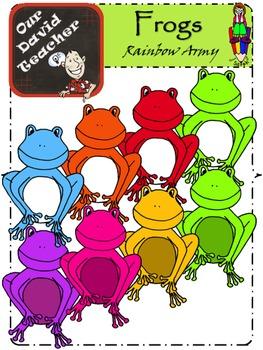 Rainbow Frogs { OurDavidTeacher }