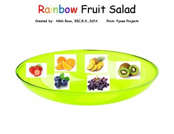Interactive Rainbow Fruit Salad book With make and take Speech & Lang. activity