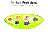 Interactive Rainbow Fruit Salad book With make and take Sp