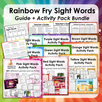 Rainbow Fry Words - Guide and Activity Pack Bundle (First 100 words)