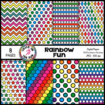 Rainbow Fun Digital Paper