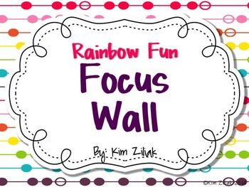 Rainbow Fun Focus Wall {White}