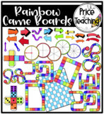 Rainbow Game Boards (The Price of Teaching Clipart Set)