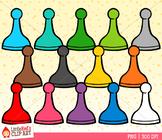 Rainbow Game Pawns Clip Art