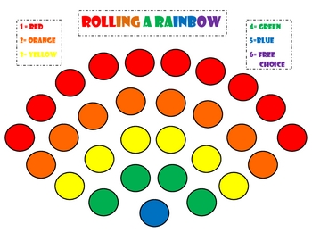 Rainbow Game: Rolling A Rainbow Game (St. Pat's Day, Rainbows, Spring)
