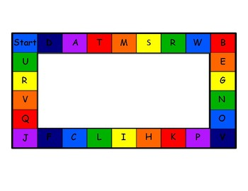 Rainbow Gameboards for Letters, CVC, Blends, Digraphs