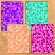 Rainbow Geometric Triangles Backgrounds - 11 Digital Paper