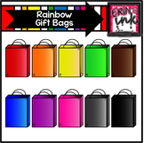 Rainbow Gift Bag Clipart