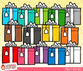 Rainbow Gifts Christmas Clip Art
