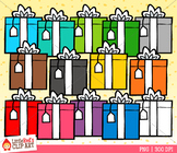 Rainbow Gifts Clip Art