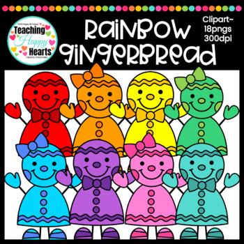 Rainbow Gingerbread Clipart