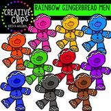 Rainbow Gingerbread Man Clipart {Creative Clips Clipart}