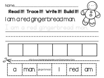 Rainbow Gingerbread Men Emergent Reader & Centers