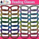 Rainbow Glasses Clip Art |Glitter Eyeglasses & Spectacles for Reading & Writing