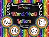 Rainbow Glitter Alphabet Word Wall Letters
