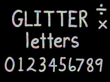 Rainbow Glitter Alphabet And Numbers