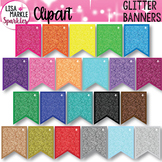 Rainbow Glitter Banner Bunting Clipart