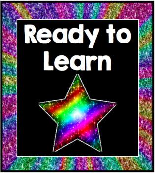 Rainbow Glitter Behavior Clip Chart